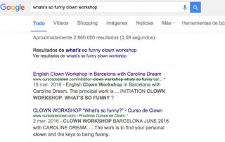 English Clown Workshop Barcelona