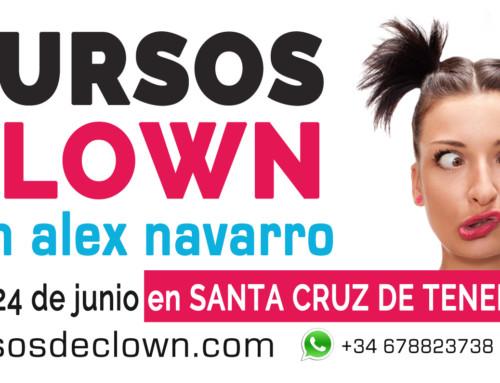 """CURSO DE CLOWN """"El 1, 2, 3 del Payaso"""" con Alex NavarroSANTA CRUZ DE TENERIFE 23 y 24 de JUNIO 2018"""
