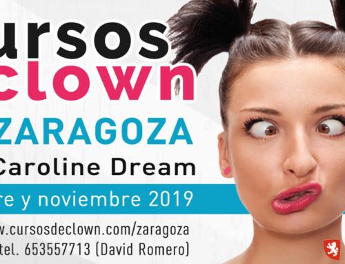 """CURSO DE CLOWN """"El payaso que hay en ti""""con Caroline DreamZaragoza 19 y 20 OCTUBRE 2019"""