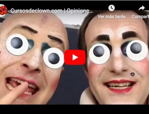 Los Payasos Pablo Gomis y Pablo Bermejo recomendando los cursos de Clown de Caroline Dream y Alex Navarro